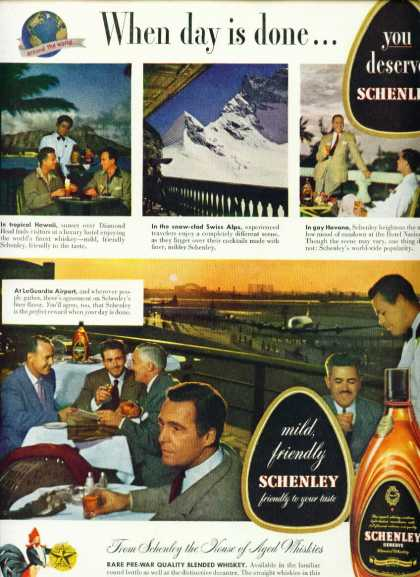 Schenley Reserve Blended Whiskey C Ad Hawaii & More (1950)