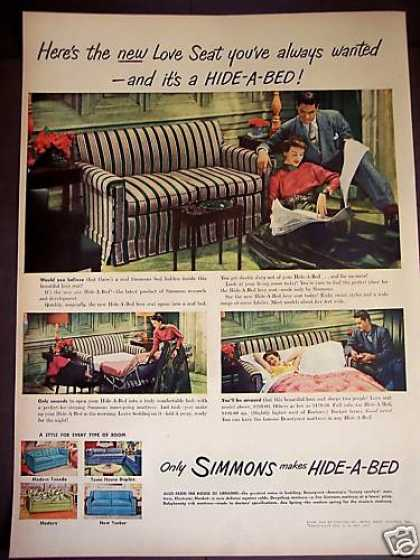 Retro Decor Simmons Hide-a-bed (1949)