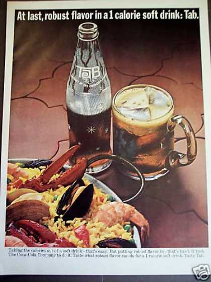 Tab Cola 1 Calorie Soda With Paella Photo (1965)