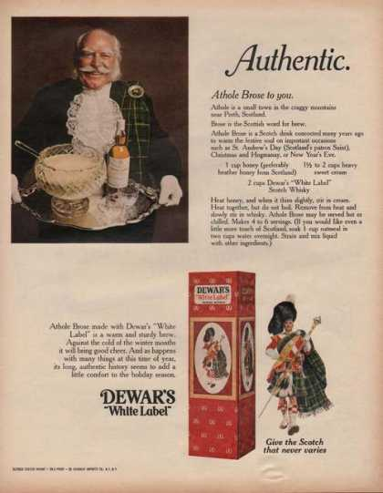 Dewars White Label Scotch (1970)