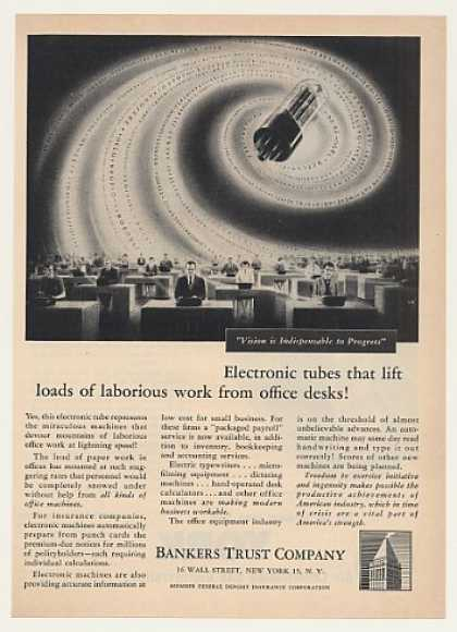 Electronic Tube Office Machines Bankers Trust (1951)
