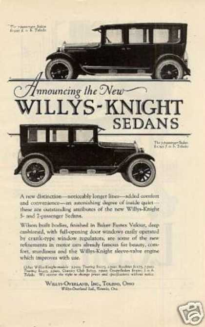 Willys-knight Sedans (1923)