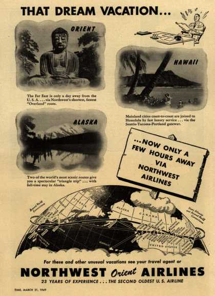 Northwest Airline's Vacation Travel – THAT DREAM VACATION... (1949)