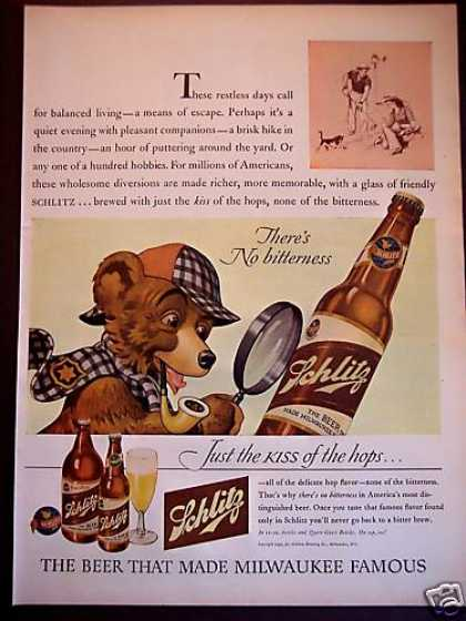 Schlitz Beer Bear Milwaukee (1943)