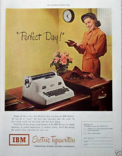 IBM Electric Typewriter Secretary Leaving Perfect (1950)