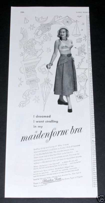 Maidenform Bra, Dreamed I Wore (1949)