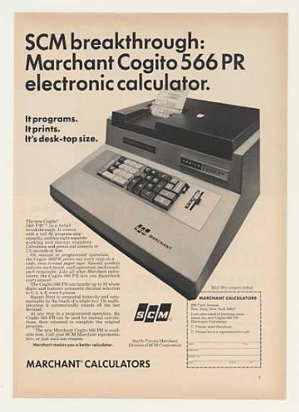'68 SCM Marchant Cogito 566 PR Electronic Calculator (1968)