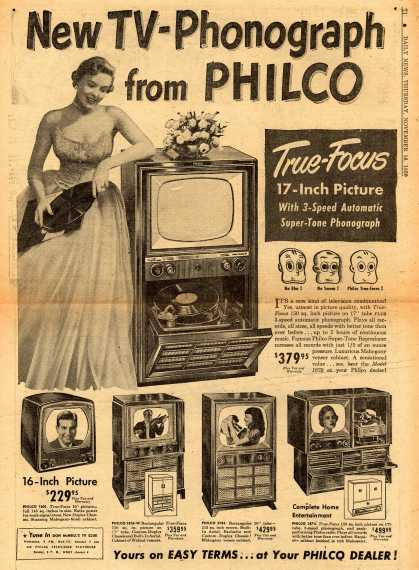 Philco's Television – New TV-Phonograph from PHILCO (1950)