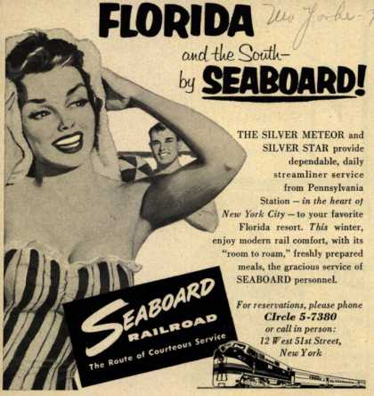 Seaboard Railroad's Florida – Florida and the South by Seaboard (1954)