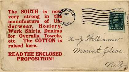 Unknown's cotton – The SOUTH is now... (1917)
