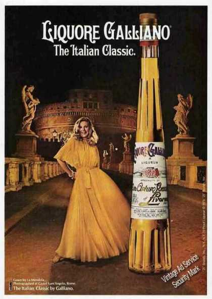 Liquore Galliano Castel Saint'angelo Rome (1979)
