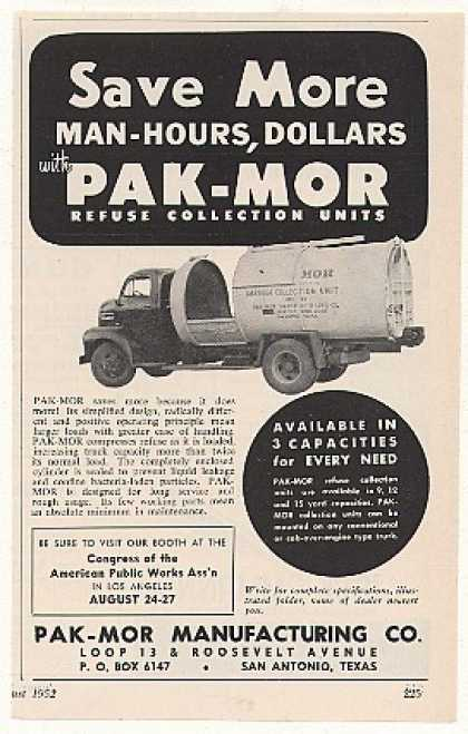 Pak-Mor Refuse Collection Garbage Truck (1952)