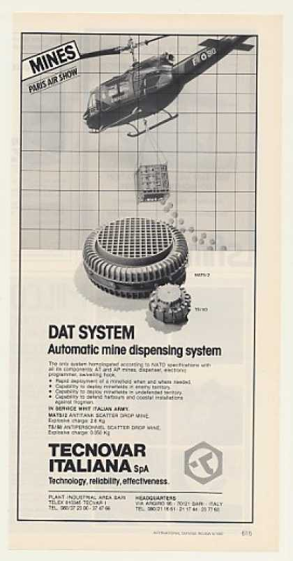 Tecnovar DAT Mine Dispensing System Mines (1987)