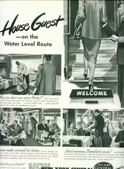 New York Central Ad Water Level Route House Guest (1949)