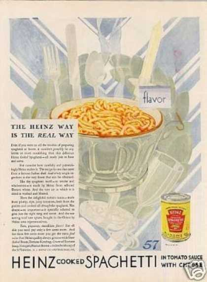 Heinz Cooked Spaghetti Color (1929)