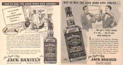 Jack Daniel's Ads – Man to Man Set of 2 Ads – Sold (1952)