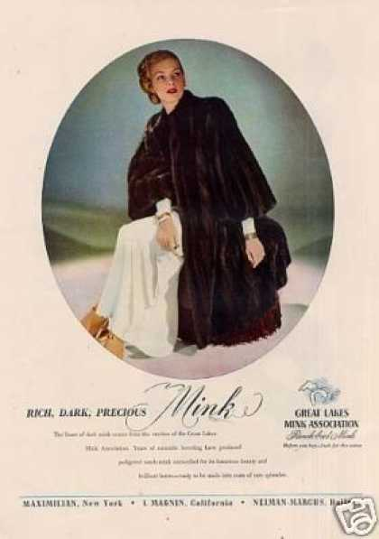 Maximilian Dark Mink Fur Coat (1946)