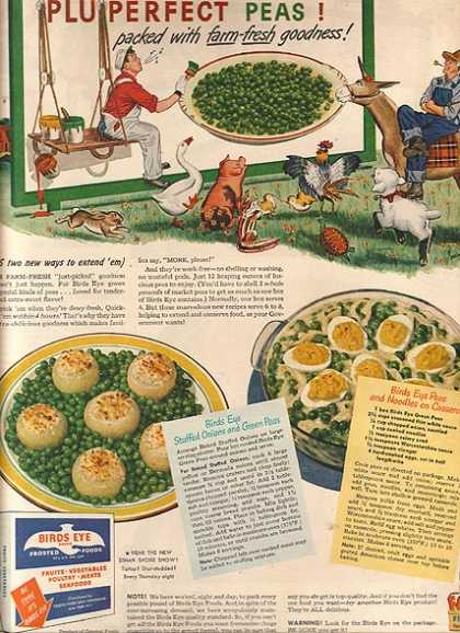Birds Eye's Frozen Peas (1944)