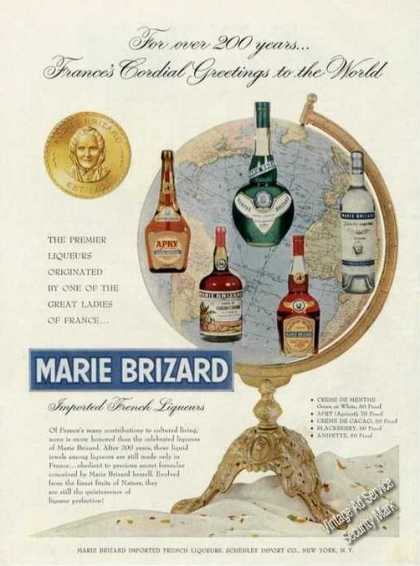 Marie Brizard French Liqueur Antique (1956)