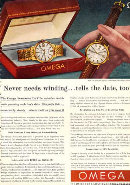 Rare Color Omega Seamaster De Ville Watch (1962)
