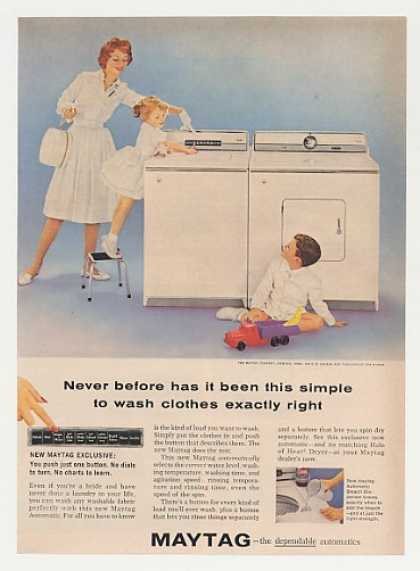 Maytag Automatic Washer Dryer Photo (1960)