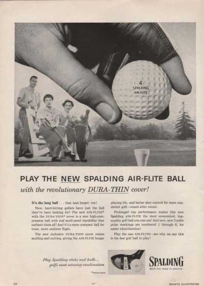Spalding Air Flite Golf Balls (1955)