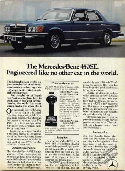 "Mercedes-benz 450se ""Engineered Like No Other"" (1975)"
