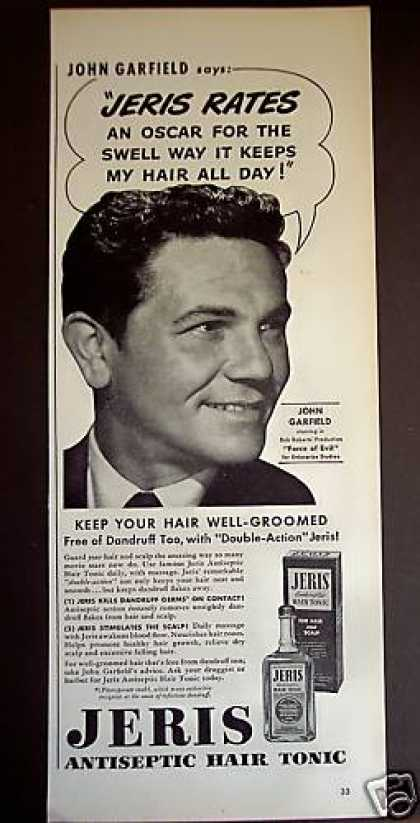 John Garfield Jeris Hair Tonic (1949)