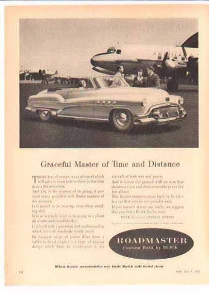 Buick Roadmaster Car – Convertible at the Airport (1952)