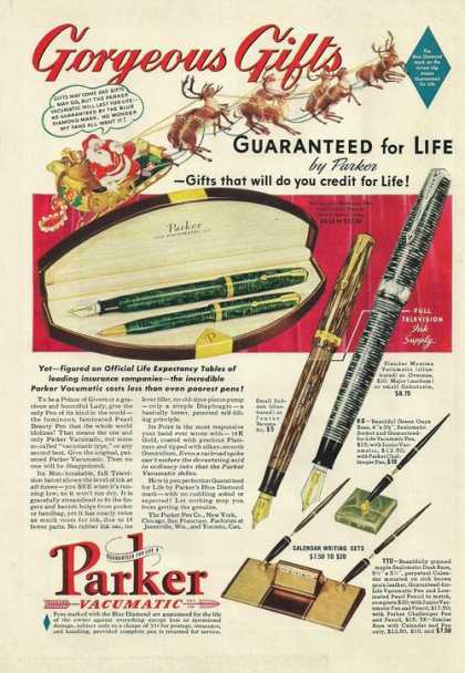 Parker Vacumatic Pen Pencil Set (1939)