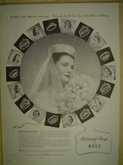 Artcarved Rings by Wood. Beloved by brides (1946)