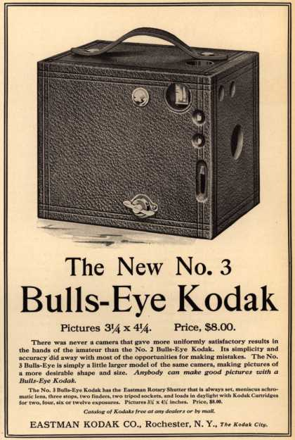 Kodak's Bulls-Eye Camera, No. 3 – The New No. 3 Bulls-Eye Kodak (1908)