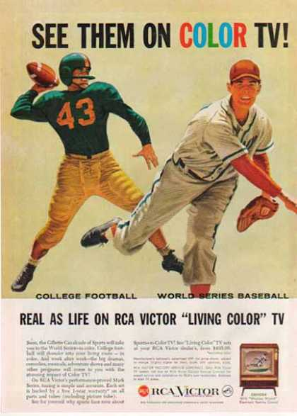 RCA – Victor Television – Football / Baseball – Sold (1958)