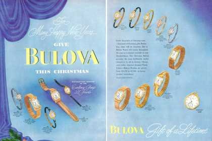 Bulova Pocket Wrist Watch Men Women 14 Models (1948)