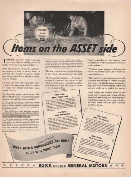 Items On the Asset Side Buick Cars Print A (1942)