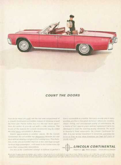 Lincoln Continental Convertible Suicide Doors (1962)