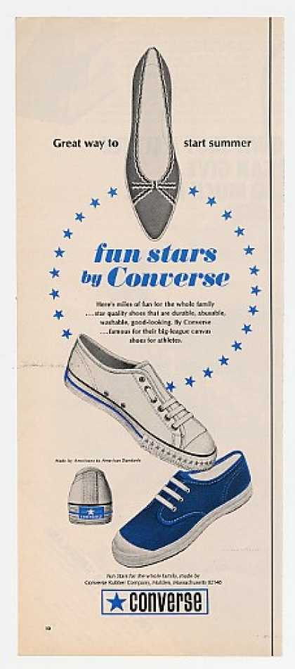 Converse Fun Stars Canvas Shoe Shoes (1967)