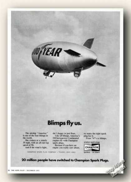 "Goodyear Blimp ""America"" Photo Champion (1972)"