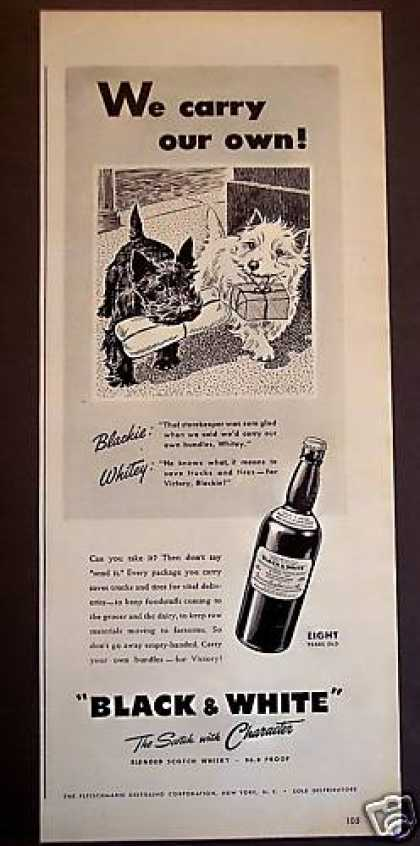 Black & White Scotch Whisky Dogs (1943)