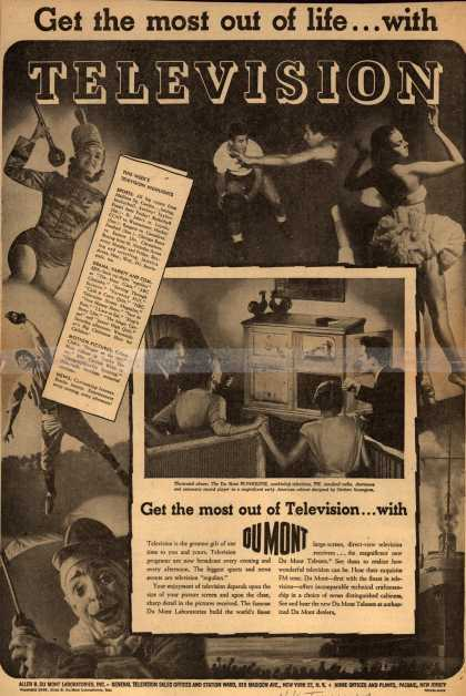Allen B. DuMont Laboratorie's various – Get the most out of life... with Television (1946)