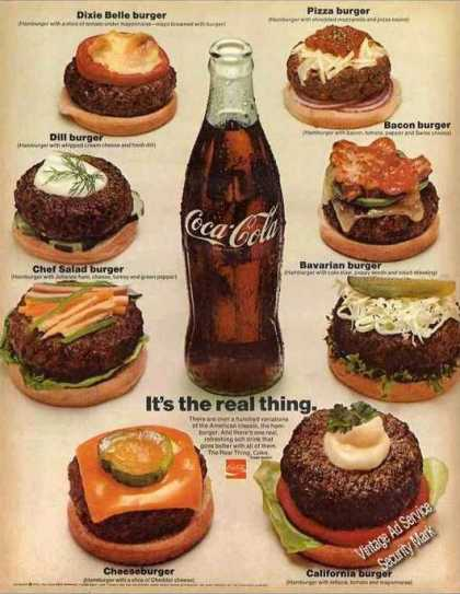 Coca-cola With Burgers (eight Different) Coke (1971)