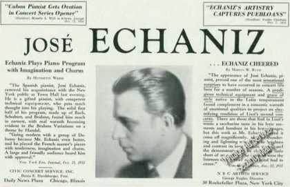 Jose Echaniz Photo Cuban Pianist Rare (1934)