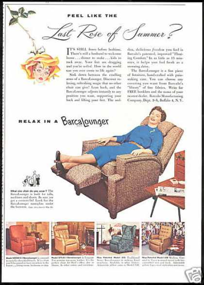 Barcalounger 5 Chair Photo Vintage (1954)