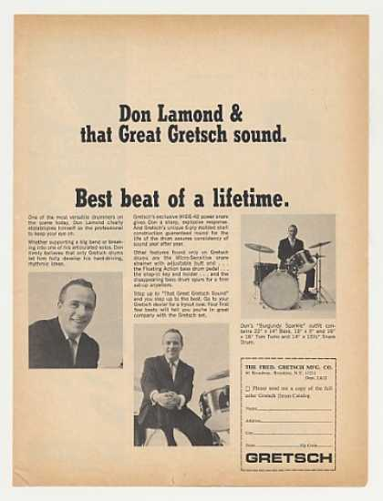Don Lamond Gretsch Drums Photo (1966)