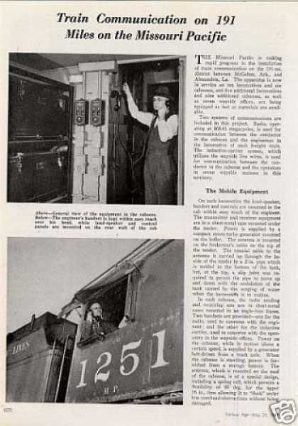 """Train Communications On the Mopac"" Article (1947)"