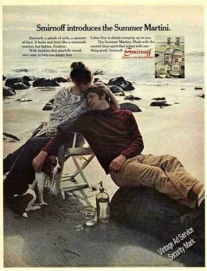Smirnoff Introduces Summer Martini Beach Scene (1971)