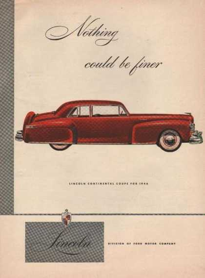 Red Lincoln Continenta (1946)