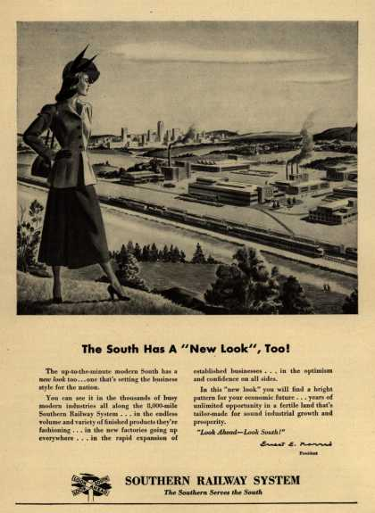 "Southern Railway System – The South Has A ""New Look"", Too (1948)"