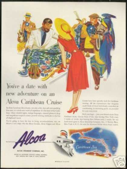 ALCOA Steamship Cruise Line Shopping Holmgren (1947)
