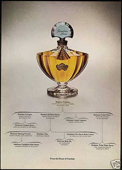 Guerlain Shalimar Perfume Family Tree (1968)